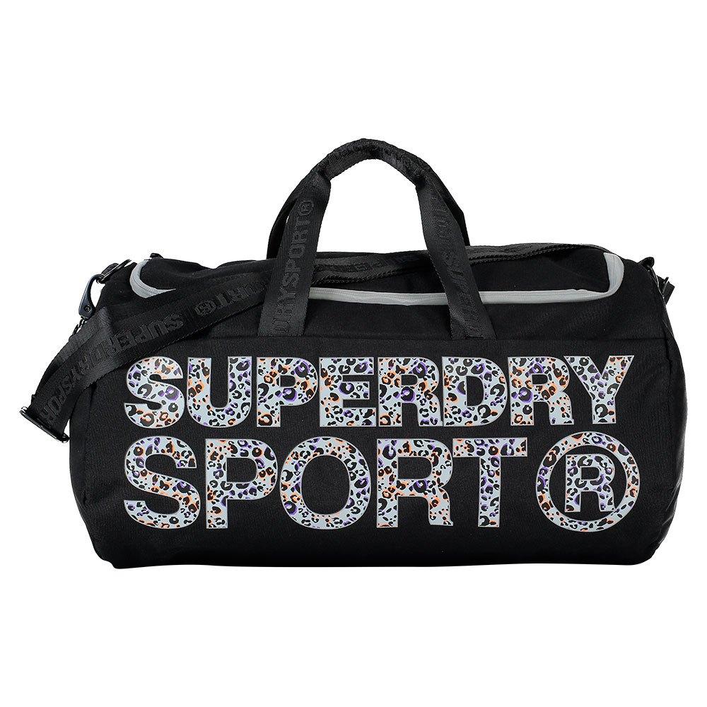 Superdry Sport Barrel Bag Lola Leopard coral print