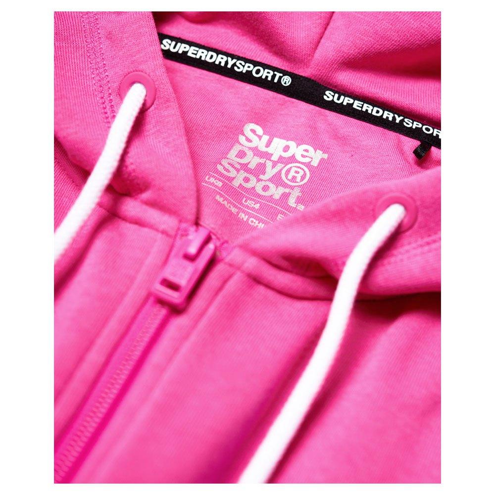 Superdry Core Sport Zip Hoodie Rose, Traininn