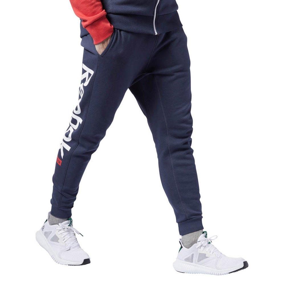 Reebok Big Logo Træningsbukser Herrer Mørkeblå Sport