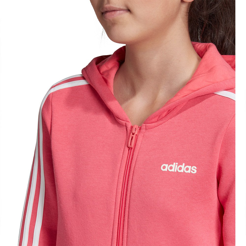 adidas ESSENTIALS 3 STRIPES FULL ZIP hoodIE |