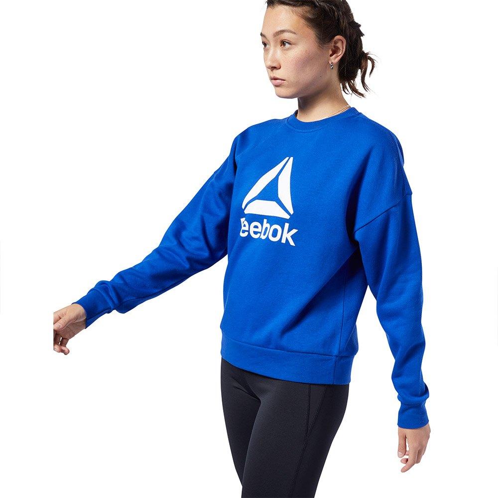 Reebok Workout Ready Big Logo Cover Up Blå, Traininn Hettgenser