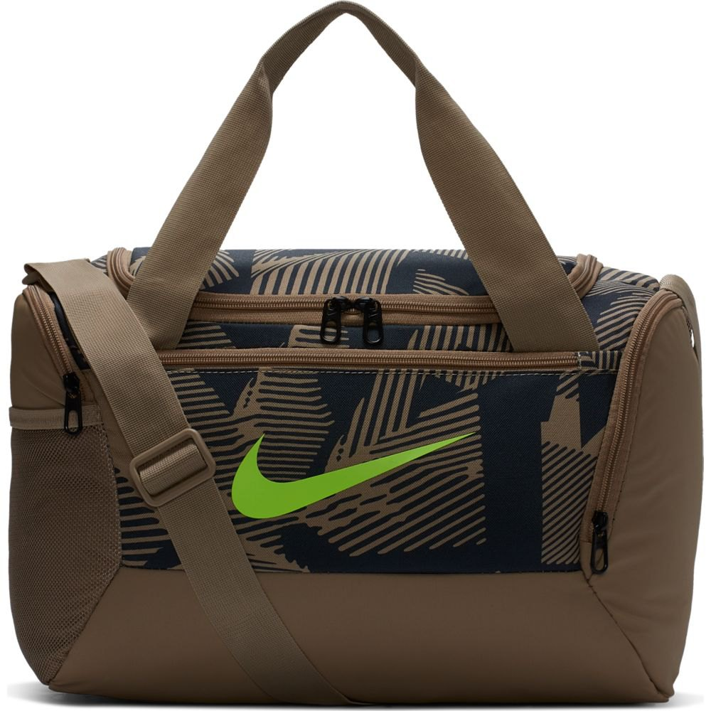 Sinis Extranjero puntada  Nike Brasilia 9.0 All Over Print Duffel XS Brown, Traininn