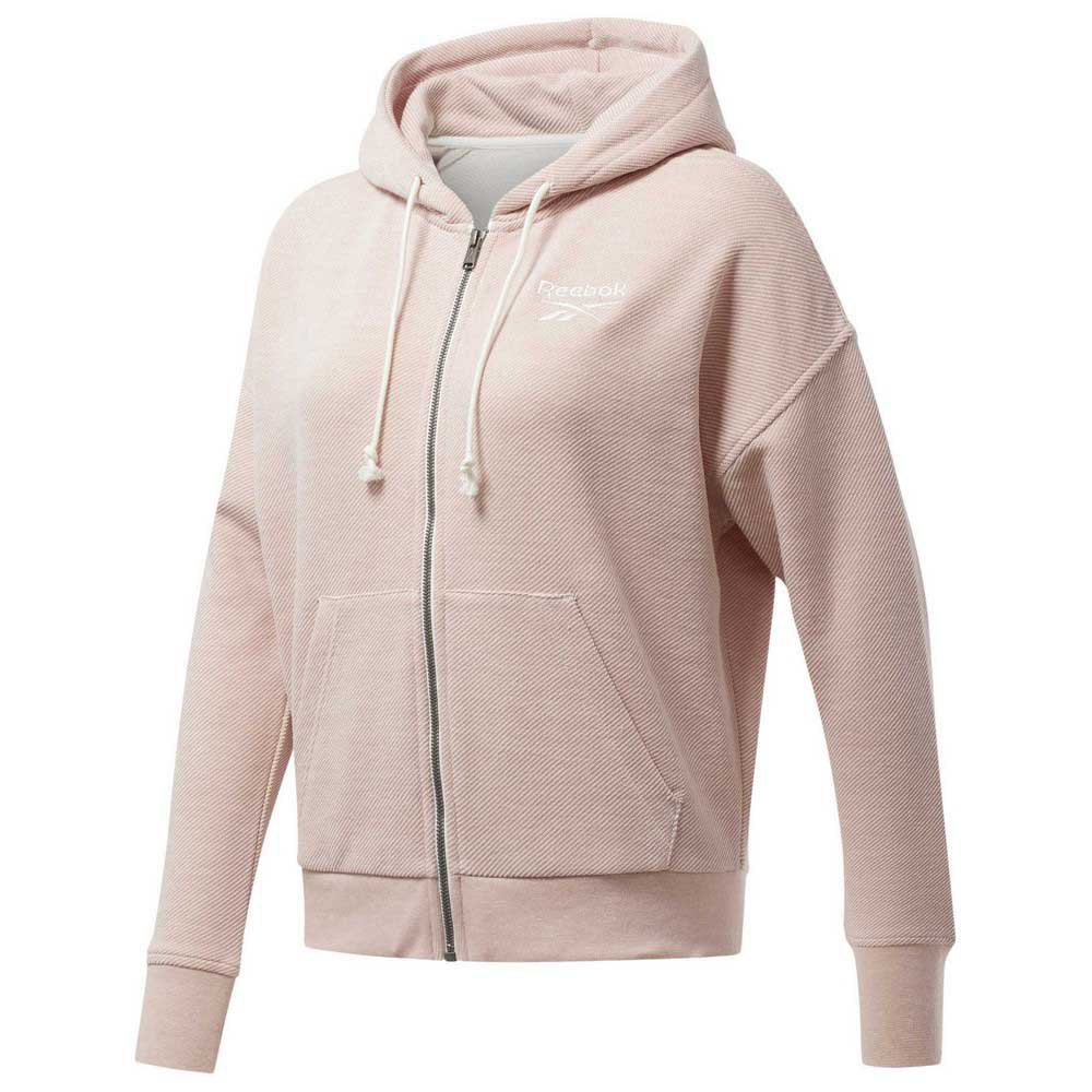 Reebok Training Essentials Textured Logo Fullzip