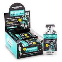 Powergym Expositor Gel Limón with Cafeina 24 Unidades
