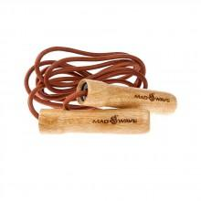 Madwave Wooden Skip Rope with Leather Cord