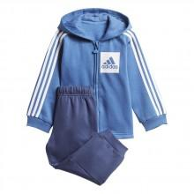 adidas 3 Stripes Full Zip Fleece Hooded Jogger