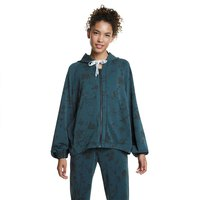 Desigual Hoodie Zip Pintucks Hawaii
