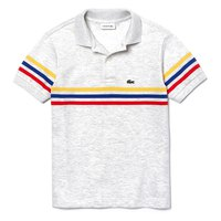 Lacoste Tricolour Striped Piqué